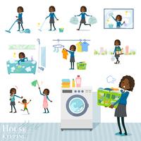 flat type School girl Black_housekeeping