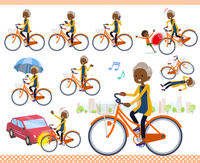flat type cardigan black old women_city cycle