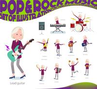 flat type purple shirt old women White_pop music