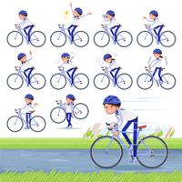 flat type Store staff Blue uniform women_road bike