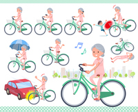 flat type patient senior woman_city cycle