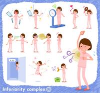 flat type patient young women_complex