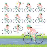 flat type patient young women_road bike