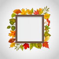 秋の季節の木のフレーム