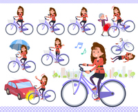 flat type 90s fashion women_city cycle