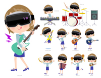 virtual reality goggle women_pop music