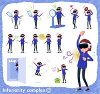 flat type VR goggle women_complex