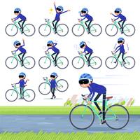 flat type VR goggle women_road bike