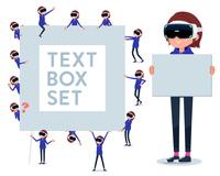 flat type VR goggle women_text box