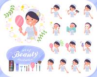 flat type Nurse women_beauty