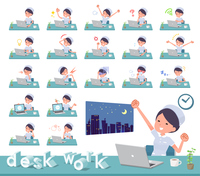 flat type Nurse women_desk work
