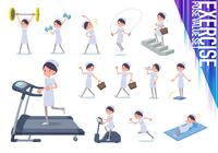 flat type Nurse women_exercise