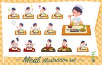 flat type Nurse women_Meal