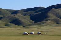 モンゴル遊牧民の移動住居