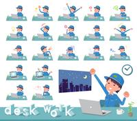 flat type Delivery women_desk work