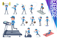 flat type Delivery women_exercise