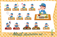 flat type Delivery women_Meal