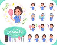 flat type surgical wear women_beauty