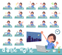 flat type surgical wear women_desk work