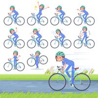 flat type surgical wear women_road bike