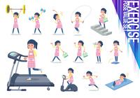 flat type Childminder women_exercise