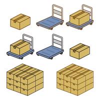 荷物 キャリーカート 段ボール箱