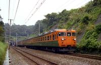 東戸塚付近を走る153系