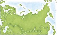 ロシアとその周辺の地図