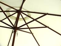 オープンカフェのパラソル