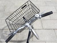 自転車の前カゴ