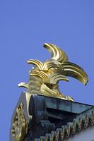 大阪城天守閣の金の鯱