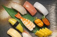 にぎり寿司のメニュー見本