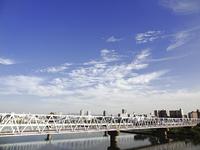 淀川と鉄橋