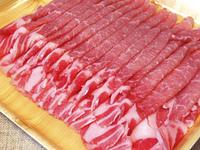 パック入りの豚肉