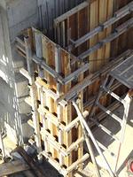 マンション工事現場のコンクリートパネル