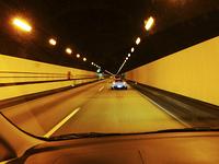 山陽自動車道のトンネル内