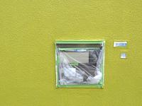 住宅の外壁工事のマスキングシート