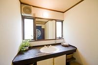 ペンションの洗面所