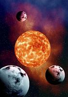 宇宙惑星と恒星