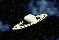 銀河とドーナツ惑星