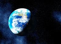 宇宙銀河と地球