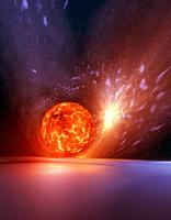 ブラックホールと膨張惑星