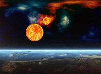 宇宙銀河と新星