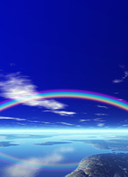 大自然と虹