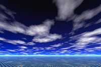 ソーラパネルと雲