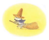 麦わら帽子をかぶった猫・飛ぶ練習