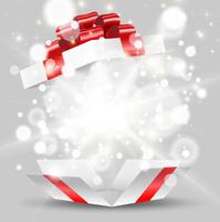 プレゼント箱から飛び出す輝く光