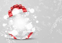 クリスマスのプレゼントと雪の結晶の背景