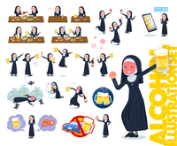 flat type Nun women_alcohol