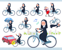 flat type Nun women_city cycle